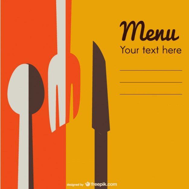 Retro restaurant menu template Vector | Free Download