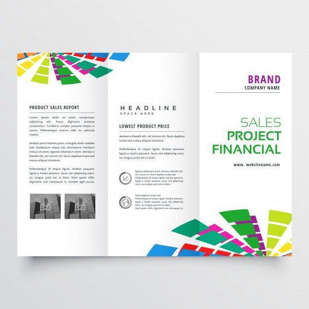 Creative trifold business flyer design Vector | Free Download