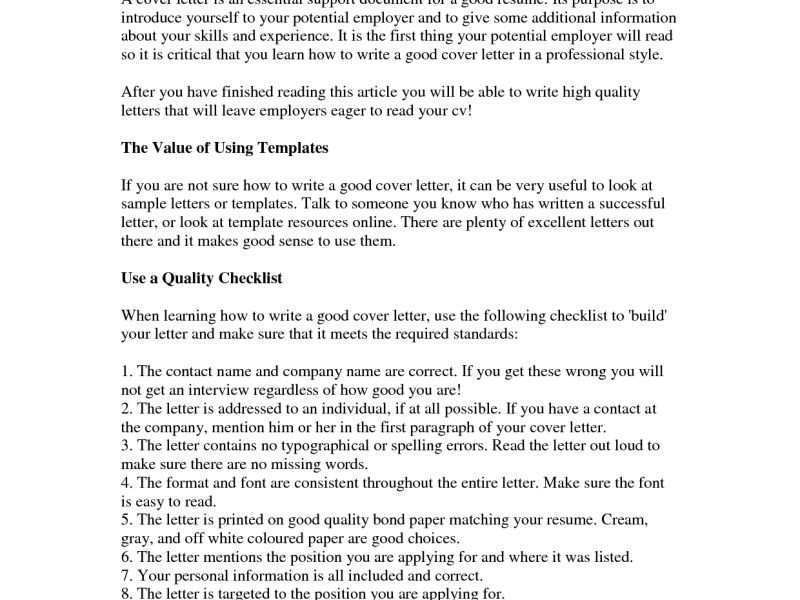 Exclusive Inspiration How To Write The Perfect Cover Letter 11 ...