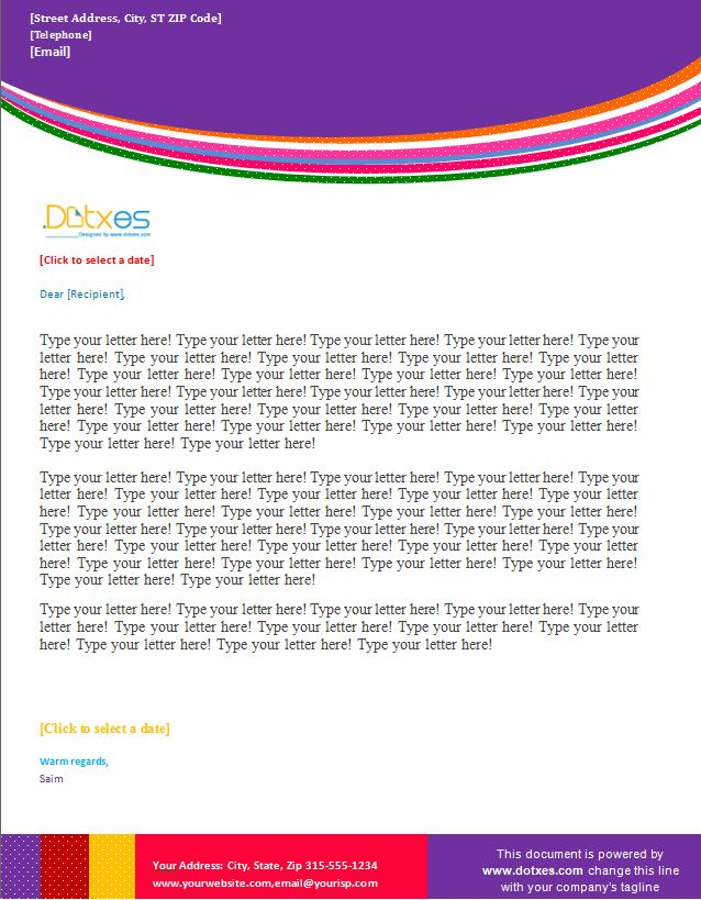 Business letterhead template (Multi Wave Design) - Dotxes