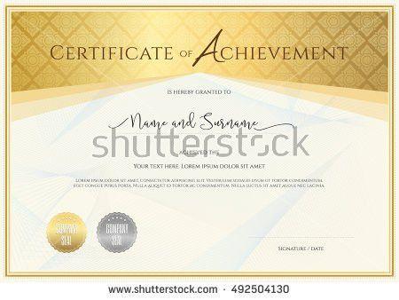 Certificate Template Achievement Appreciation Completion ...