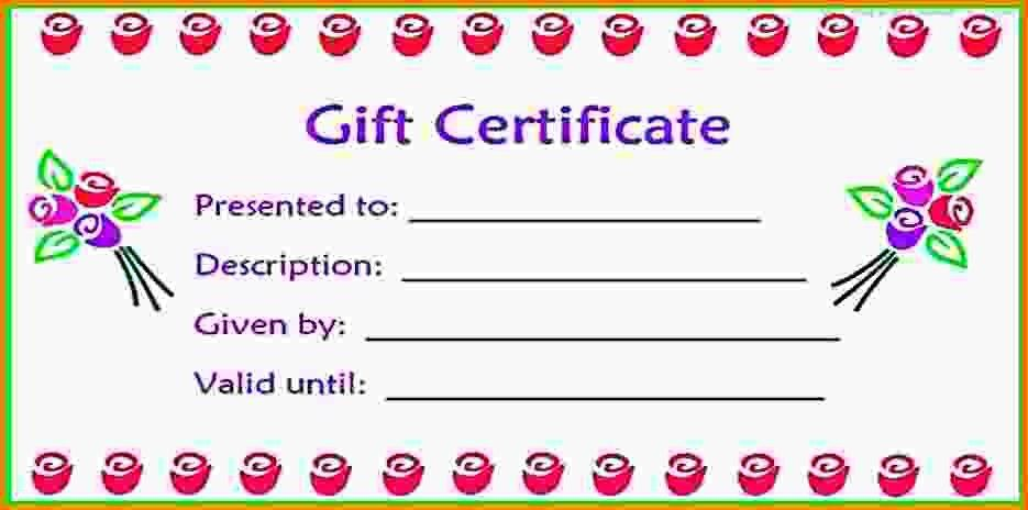 8+ free printable gift certificates - LetterHead Template Sample