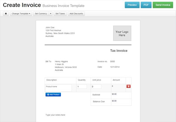 Landscaping Invoice Template | invoice sample template