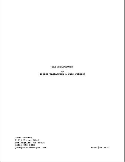 ScriptFaze: Screenplay Format