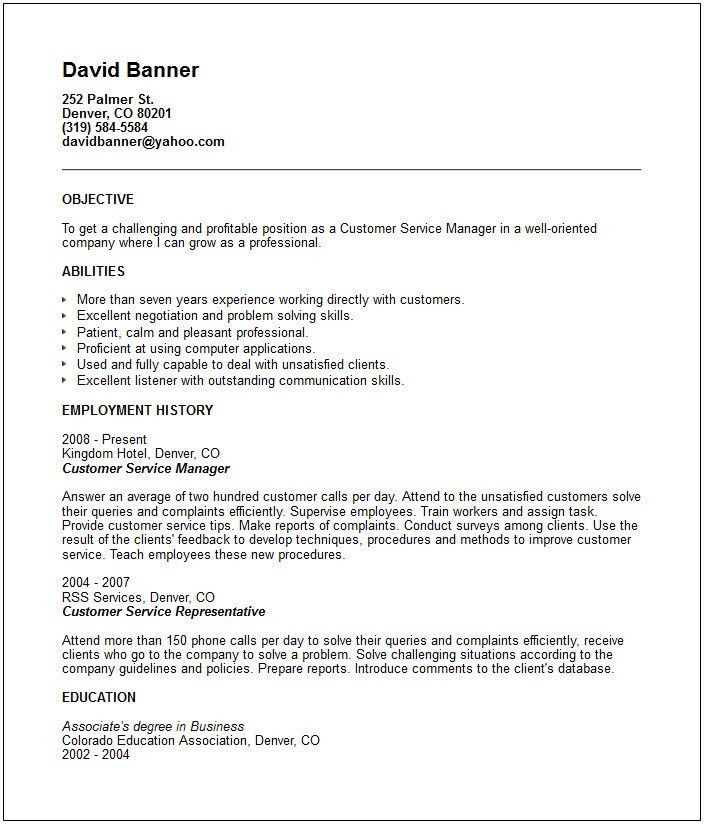 Bold Ideas Skills To Put On A Resume For Customer Service 8 Is A ...