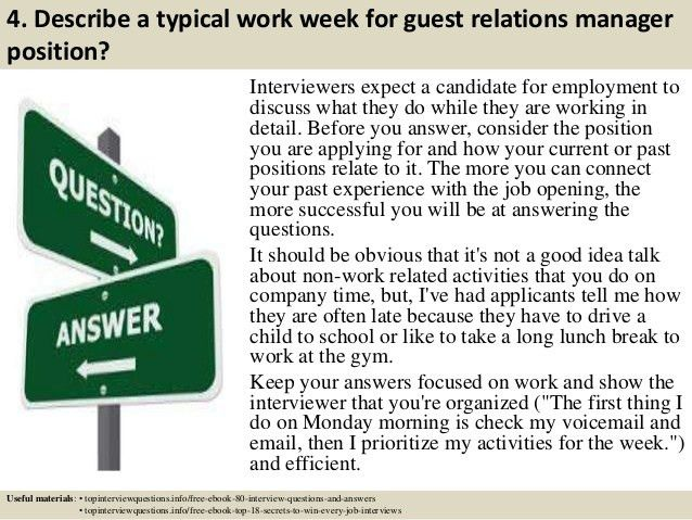 Top 10 guest relations manager interview questions and answers
