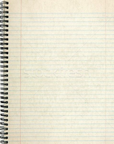 Old notebook page lined paper. stock photo © Stephen Rees (latent ...
