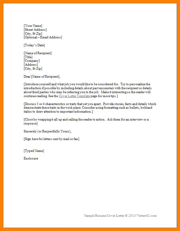 6+ simple cover letter format | autobiography format