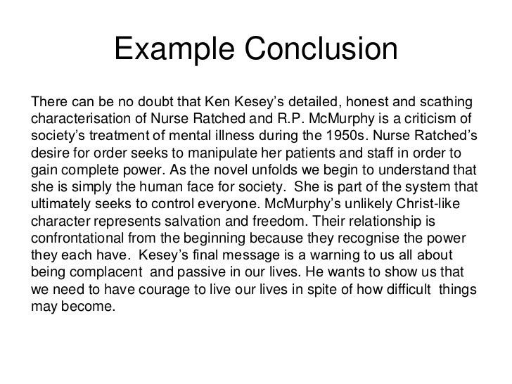 Conclusion Example] Conclusion To An Essay Example University Of ...