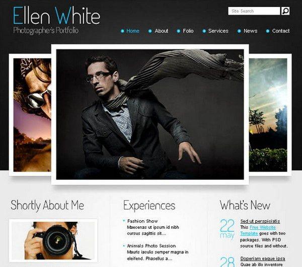24 Free and Premium Portfolio Website Templates | Ginva