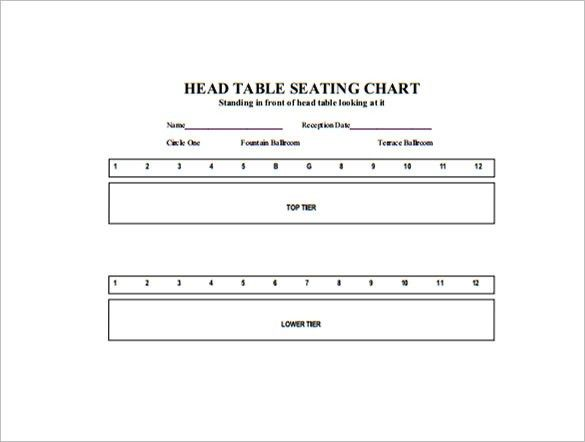 Table Seating Chart Template – 14+ Free Sample, Example, Format ...
