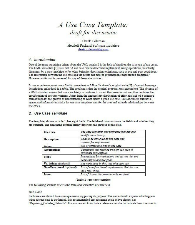 Use case template 40 use case templates examples word pdf 40 use case templates examples word pdf template lab pronofoot35fo Image collections