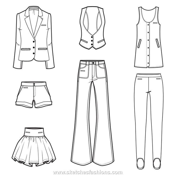 15 best FASHION | FLAT DRAWINGS images on Pinterest | Fashion ...