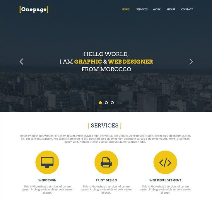 27 Professional Free PSD Website Templates