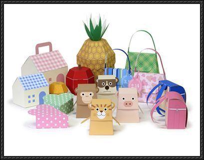 Gift Box Papercrafts Free Download