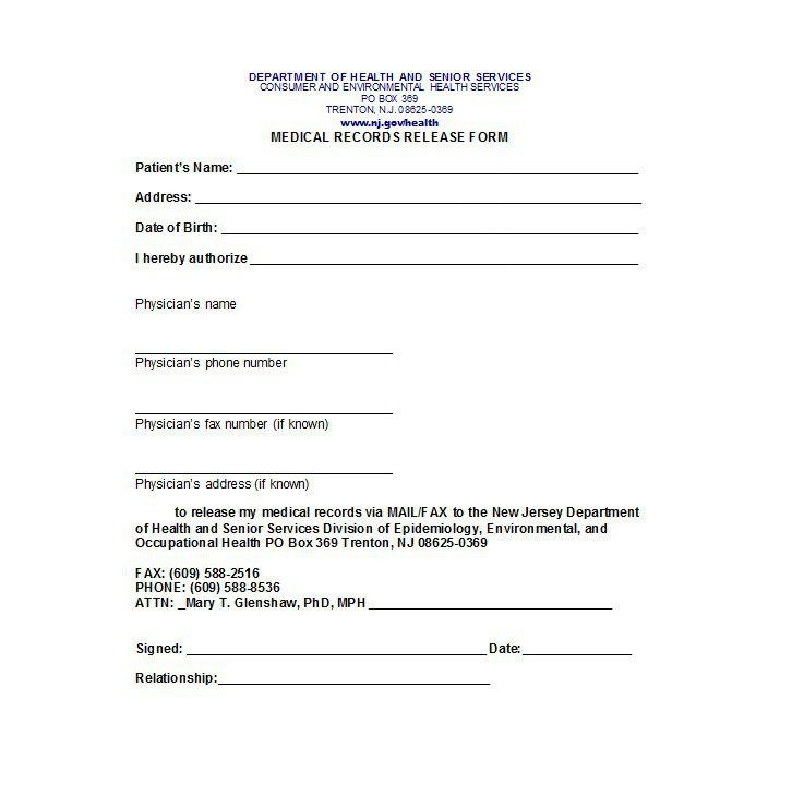 generic medical record release form - Minimfagency - generic photo release form