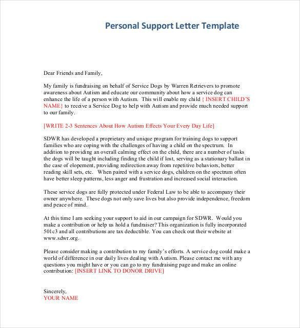 Personal Letter Template - 39+ Free Sample, Example Format | Free ...