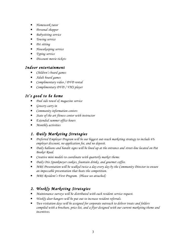 Sample Start Up Marketing Plan for a new community or and existing co…