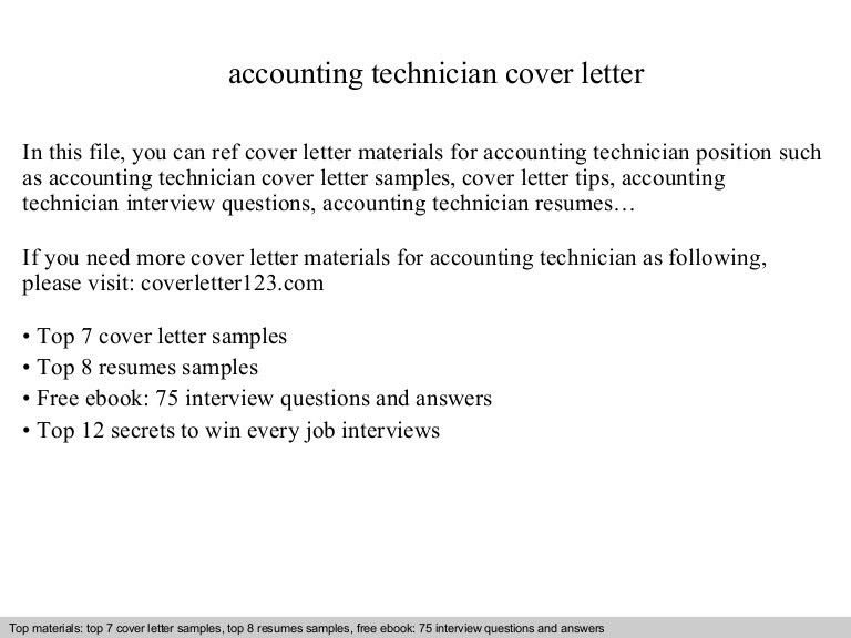 sample cover letter accounting