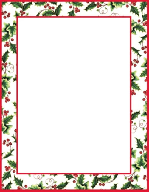free religious christmas letterhead templates | Geographics® Holly ...