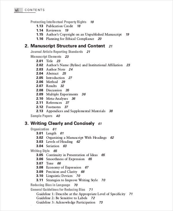 Table Of Contents Template - 10+ Free Word, PDF, PSD Documents ...