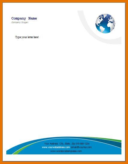 7+ company letterhead templates | Itinerary Template Sample