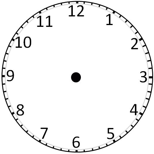 Blank Clock face: Without Hands