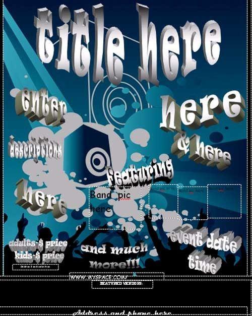 Printable Concert Flyer Template - Free Online Flyers