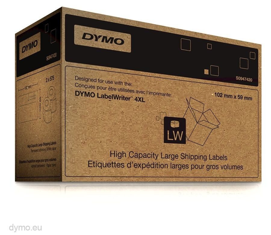 Dymo S0947420 Shipping Labels 102x59mm for Large Volumes | Dymo.eu