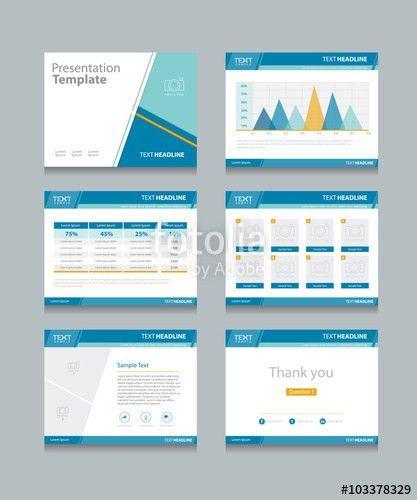 business presentation template set.powerpoint template design ...