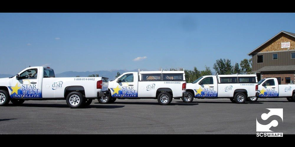 Starwest Satellite Pickup Truck Wrap · SCS Wraps