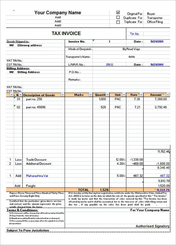 Occupyhistoryus Pleasing Microsoft Invoice Template Free Word ...