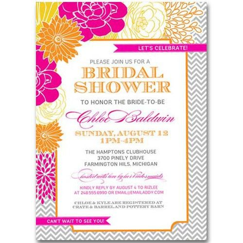 Rustic floral bridal shower invitations EWBS023 as low as $0.94 |