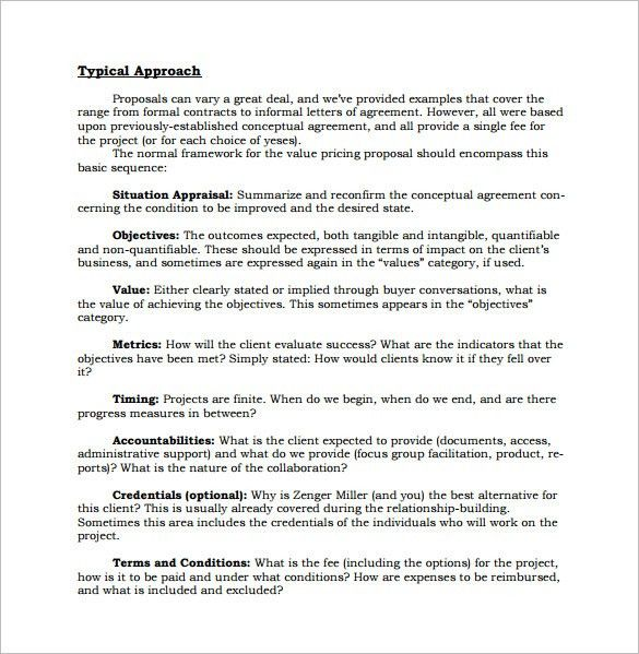 Formal Proposal Example Sample Formal Proposal Template 7 Free