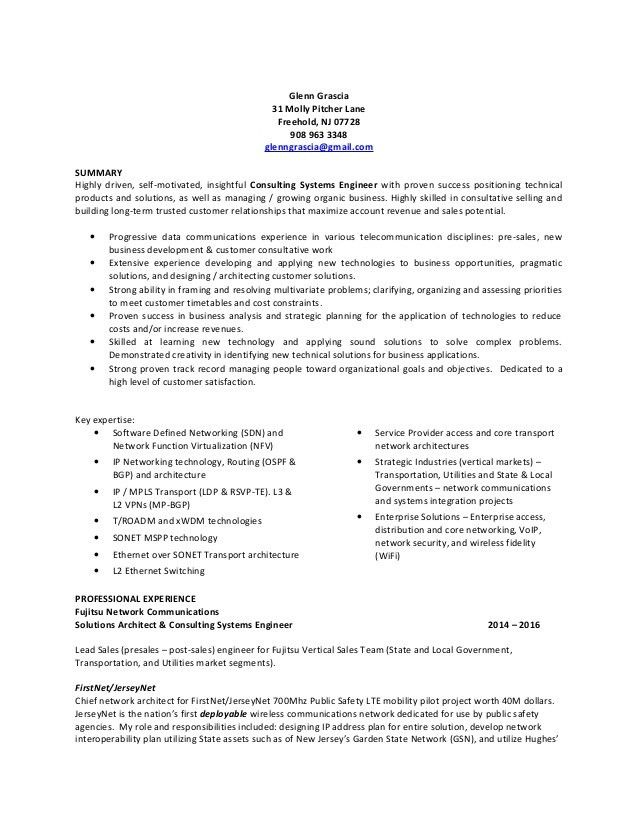 Glenn Grascia Resume March 2016 v1