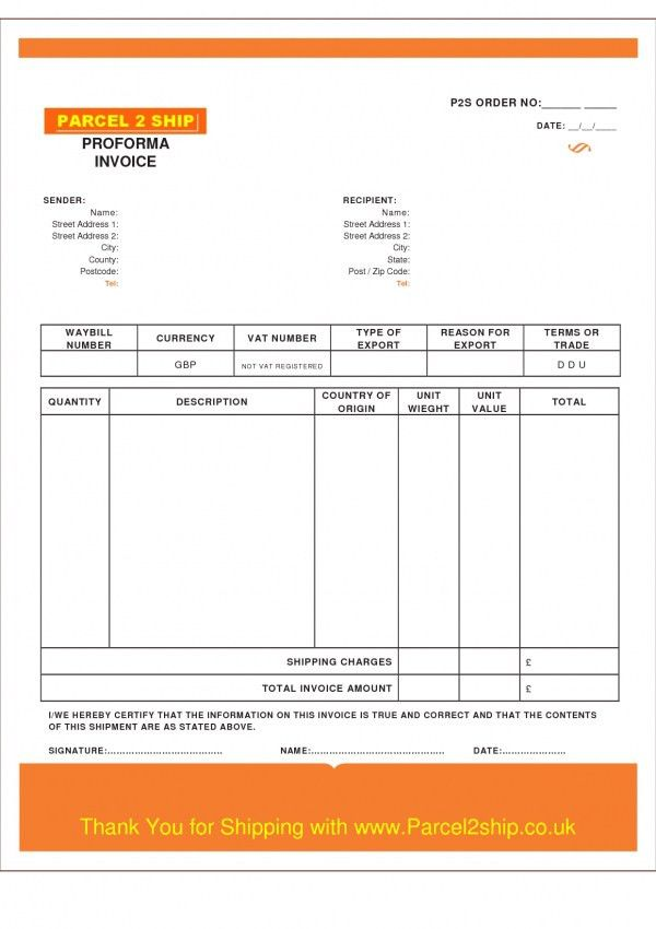 Download Proforma Invoice Template Australia | rabitah.net