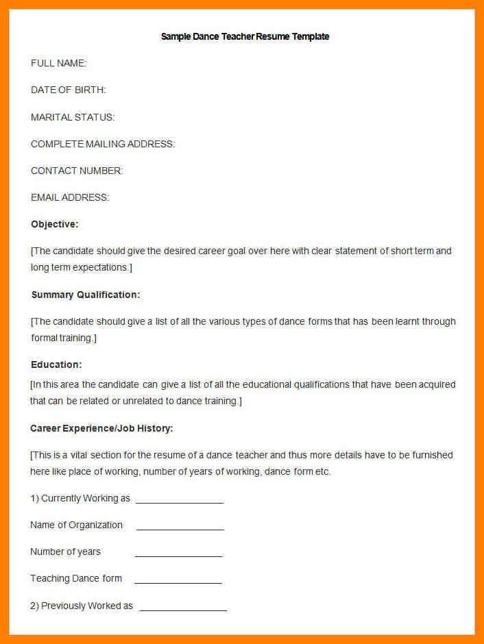 5+ cv format for fresher teacher | accept rejection