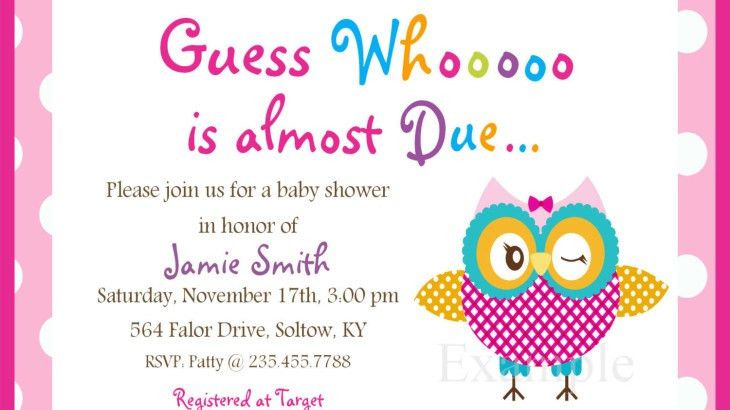 Baby Shower Invitations Wording Page 20 - Free Baby Shower ...