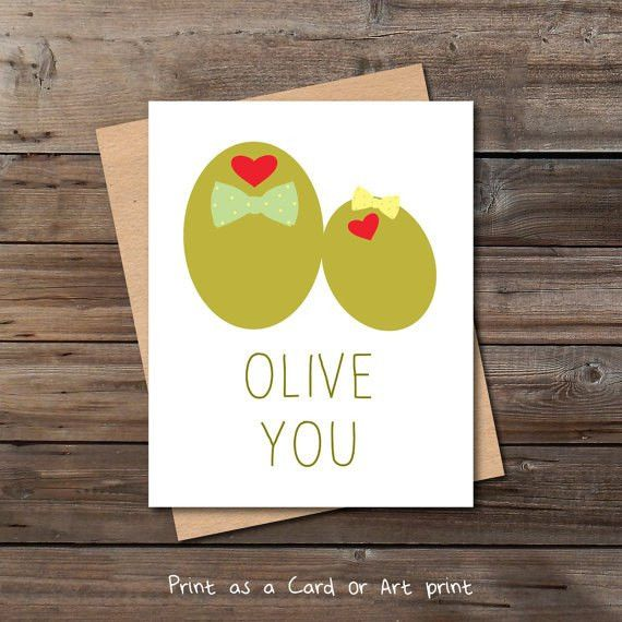 olive you funny love card download cute anniversary card for