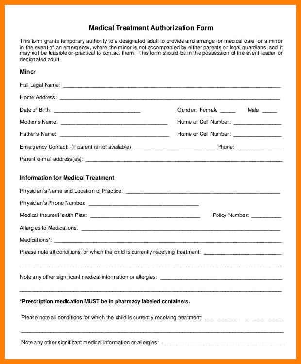 5+ free child medical consent form | artist resumes