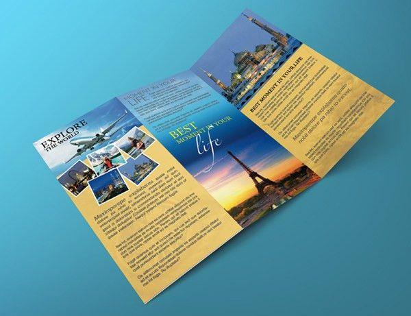 Tri Fold Travel Brochure Template – GraphicLoads