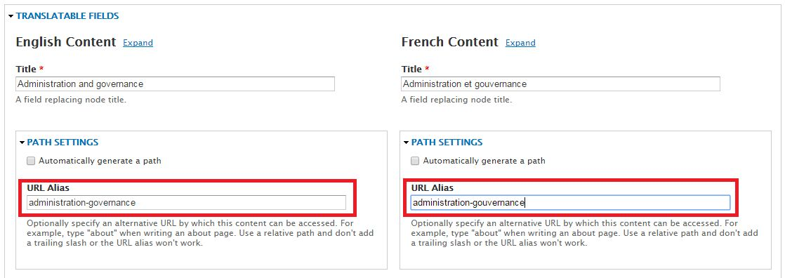 Best practices regarding the path (URL) of a page | Web at uOttawa ...