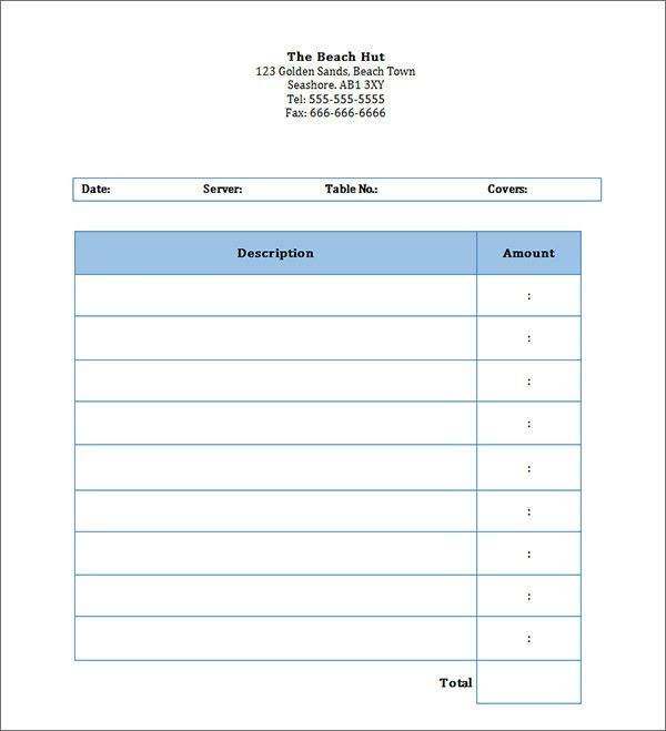 Blank Invoice Pdf | printable invoice template