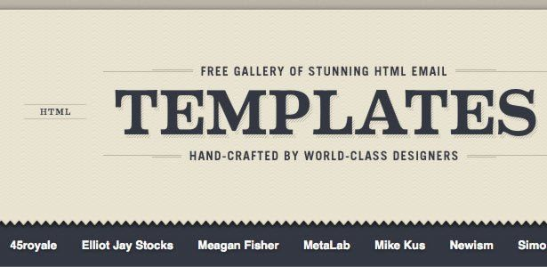 100+ completly free HTML email templates | Inbox Junky