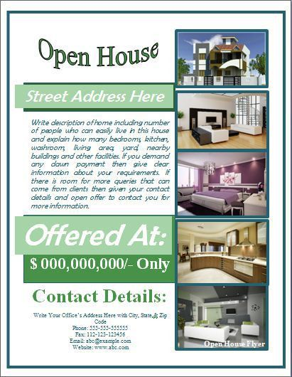 Open House Flyer Template Free for Mortgage | Open House Flyer ...