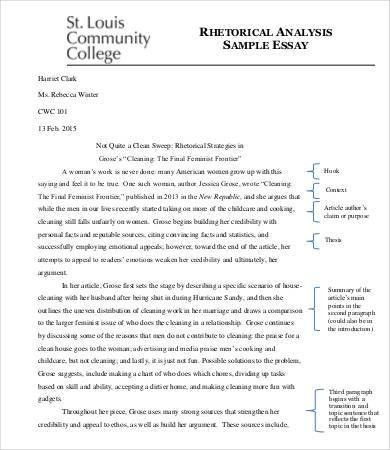 Analysis Essay Template - 7+ Free Samples, Examples, Format | Free ...