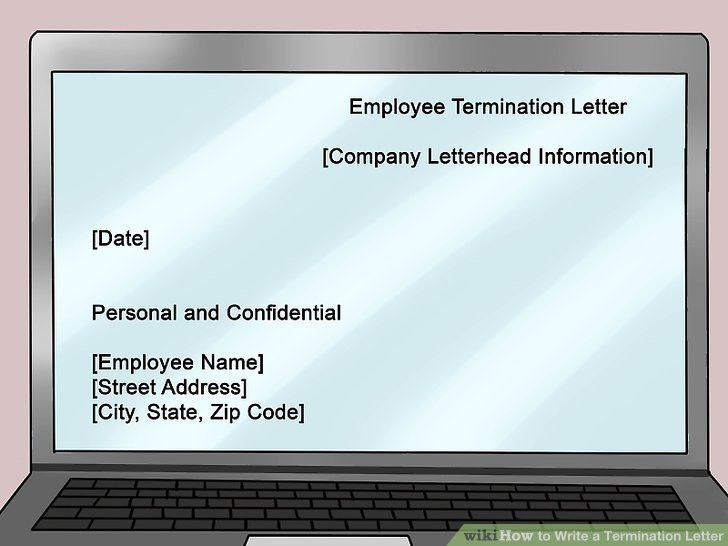 How to Write a Termination Letter: 14 Steps (with Pictures)
