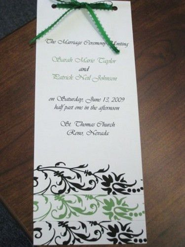 9 Best Images of Wedding Programs Templates One Sheet - Church ...