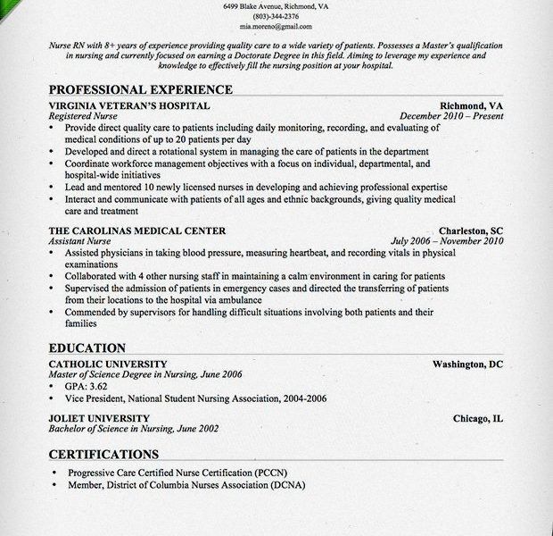 Rn Nursing Resume Best Registered Nurse Example Livecareer