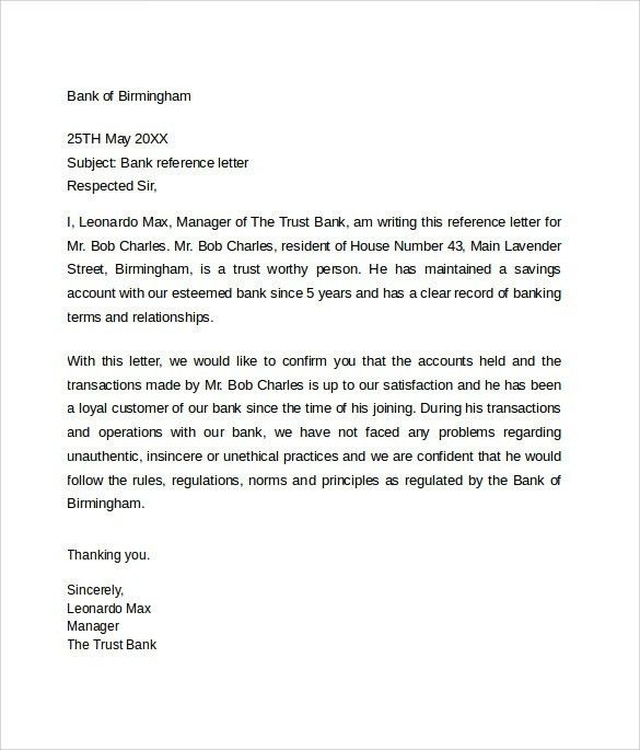 Examples Of Reference Letters | | How to Format a Cover Letter